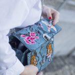PRINT BAG AND METALIC SHOES